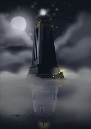 Bioshock and Bioshock Infinite light houses.