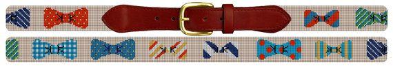 Bow Ties Needlepoint Belt Canvas