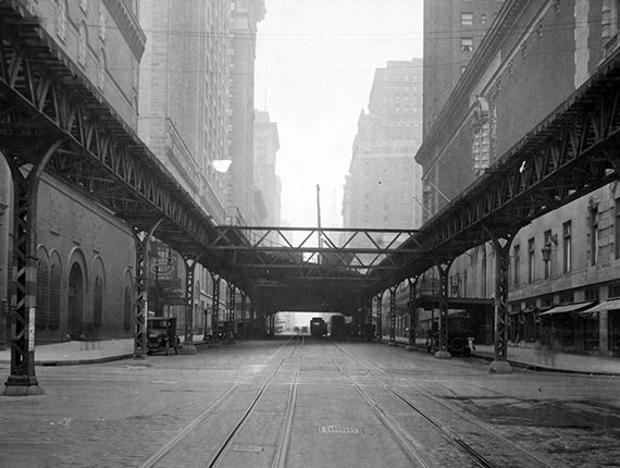 Then Vs. Now: New York City -- Then: 42nd Street and Lexington Avenue (1924)
