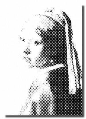 Poster - Meisje met de parel - maat L