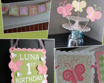 Butterfly Party Package Butterfly Birthday by GiggleBees on Etsy