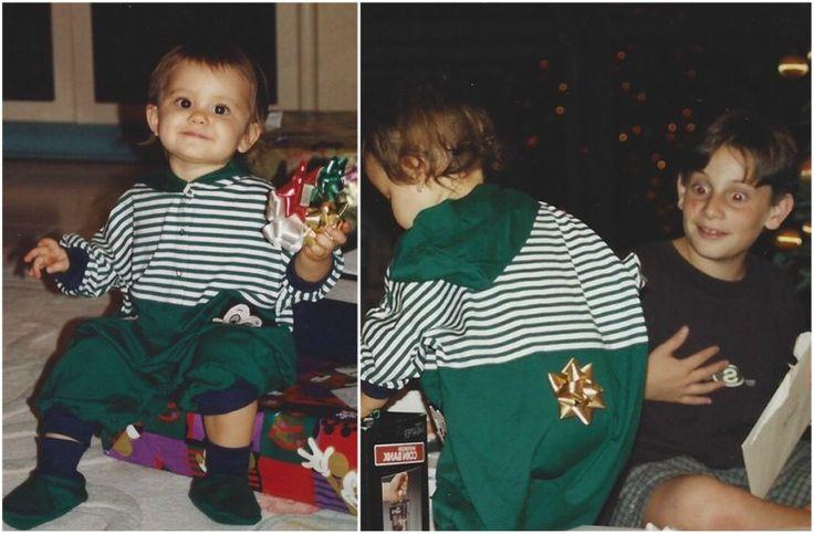 Little Ariana Grande with half-brother Frankie J. Grande