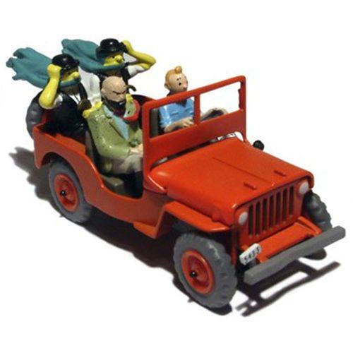 29044 / 2118044 - La Jeep rouge Dupondt barbus / De rode Jeep op de cover - Kuifje en het zwarte goud