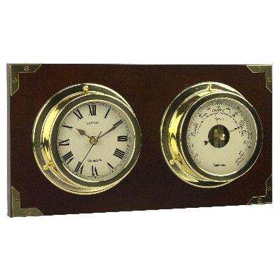 NA 2912 - Orologio e un Barometro da parete - L 36,5 cm