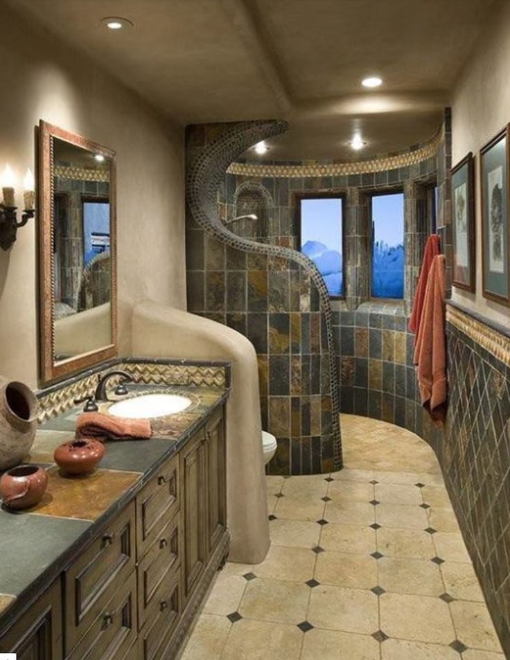 Love love the walk-in shower and the curves