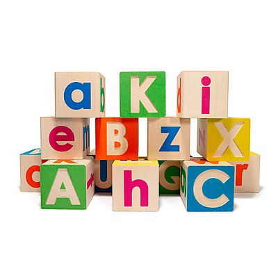 3. Upper & Lowercase abc blocks: You can never go wrong when