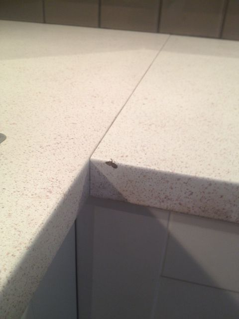 Dent In Corner Of Counter As Well As The Big Evil Seam