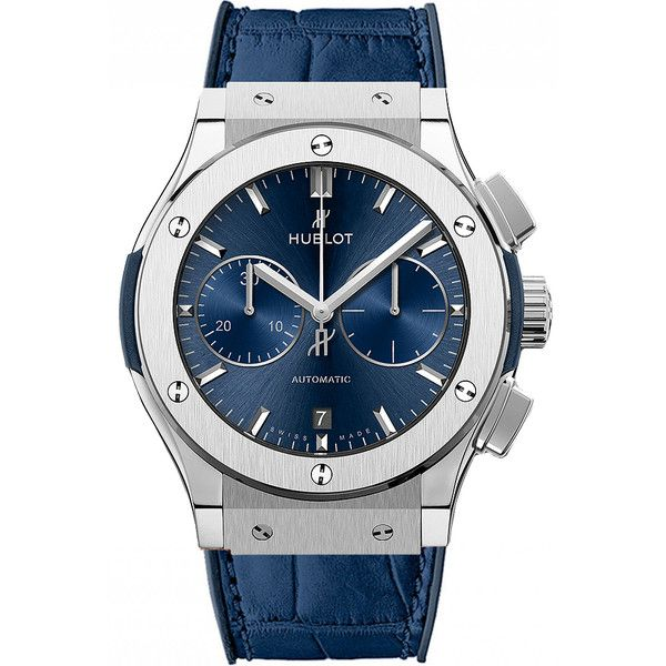Hublot Classic Fusion Chronograph 45mm 521.nx.7170.lr Watch (10,105 CAD) ❤ liked on Polyvore featuring men's fashion, men's jewelry, men's watches, titanium, mens titanium watches, hublot mens watches, mens diamond bezel watches and mens chronograph watches