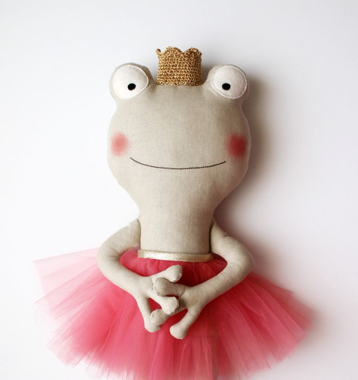 Made to Order. The frog princess. Stuffed animal coral by blita