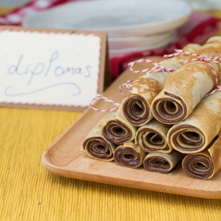 Celebrate graduation with Nutella-rolled crepes. Tie with a ribbon to make your own edible diploma.