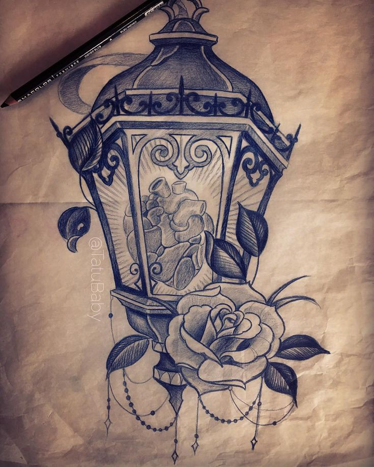 Lantern Tattoo Sketch✏️