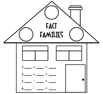Fact Families [House] Worksheet   House, Facts and Fact families