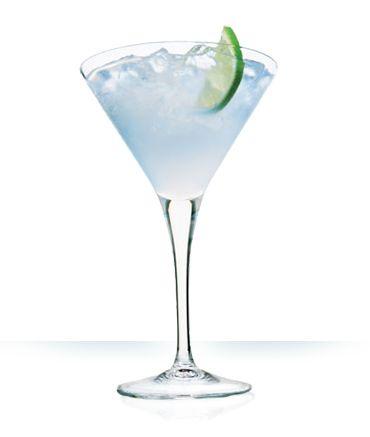 White Cosmo - 1 oz vodka - 1/2 oz Cointreau - 1 oz white cranberry juice - 1/2 oz lemon juice