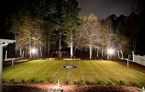 Love this - how great to have your own Sanford Stadium and hedges in your own back yard!