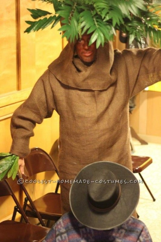 Share your adult tree costume with stilts about
