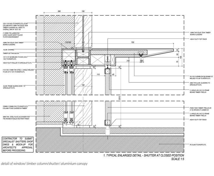 DTL of aluminium canopy. Bedmar & Shi. Drawn by me :)