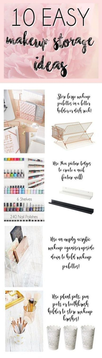 Easy Makeup Storage Diy Nagellack 51 Beste Ideen # BeautyBlog #MakeupOfTo …   – shoe
