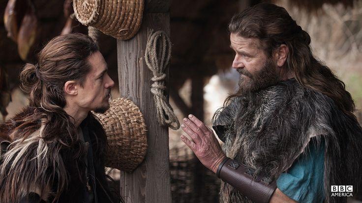 "Alexander Dreymon as Uhtred of Bebbanburg (with Peter Gantzler as Earl Ragnar) in ""The Last Kingdom"" Season 1 http://www.imdb.com/title/tt4179452"