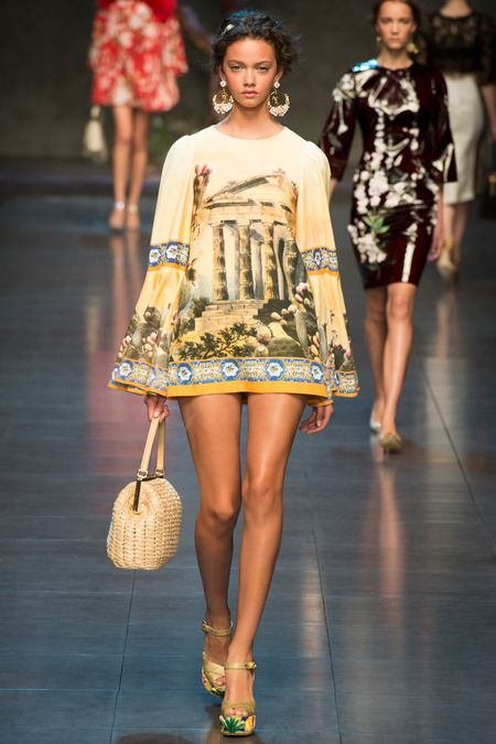 model marina nery  Dolce & Gabbana Spring 2014 Ready-to-Wear Collection Slideshow on Style.com