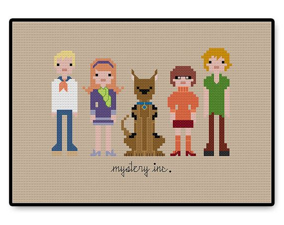 Scooby Doo Mystery Inc  Cross Stitch PDF Pattern by HugSandwich