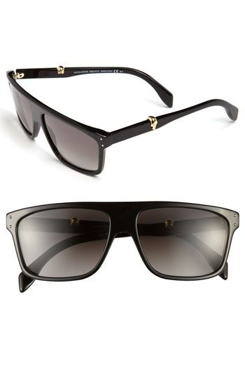 Love these!  Alexander McQueen 57mm Sunglasses available at #Nordstrom