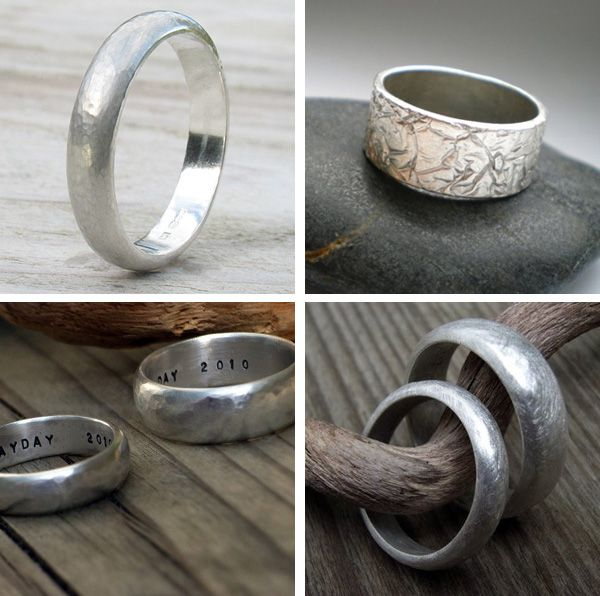Handmade rings for the mister. #weddingband