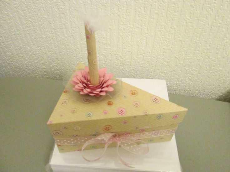 Paper cake slice box