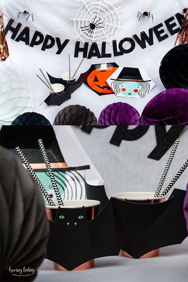Halloween Witch Bats Dracula Ghost Booo Trickortreat Merimeri Partydeko Partydeko Halloween Deko Halloween Party Ideen
