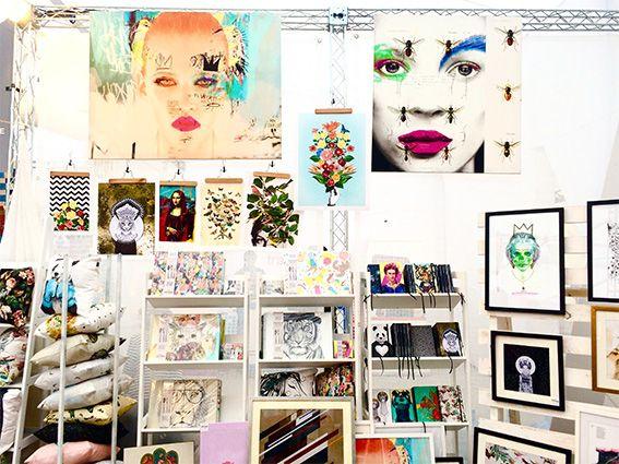 Nuestro Stand En BazarED Invierno. Full color, Laminas, Cuadros, Agendas, Cortinas y más...