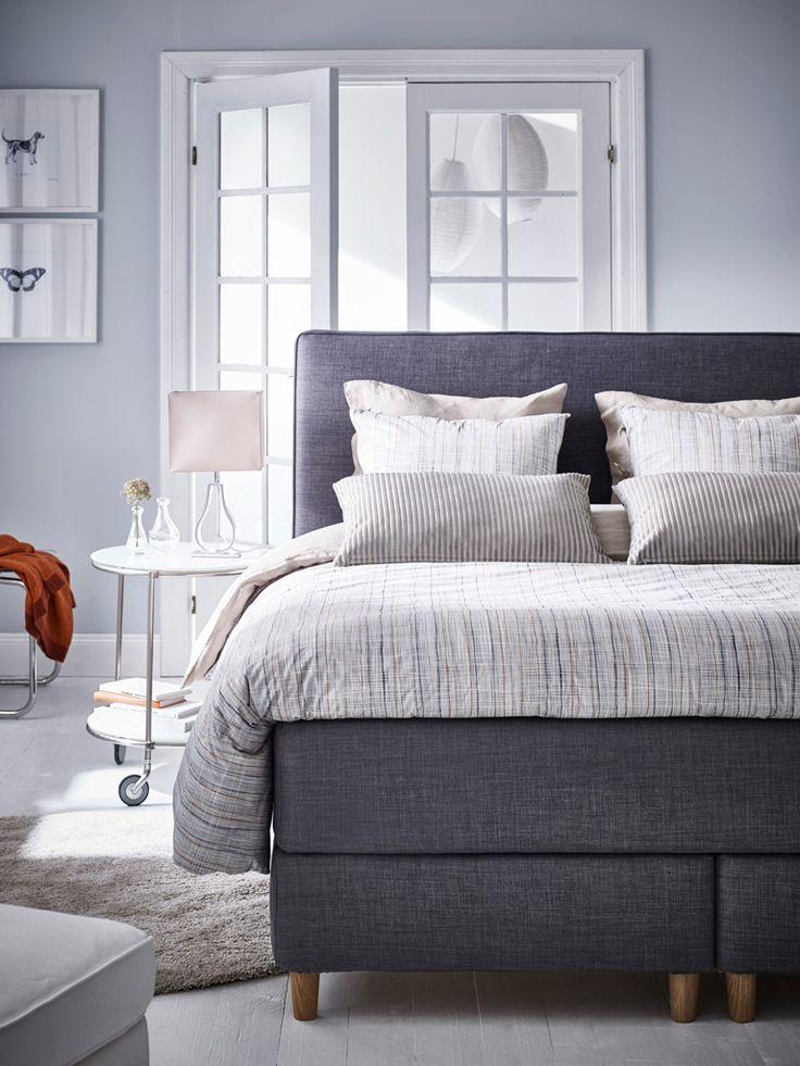 Nieuwe serie kwaliteitsboxsprings IKEA voor een goede nachtrust.
