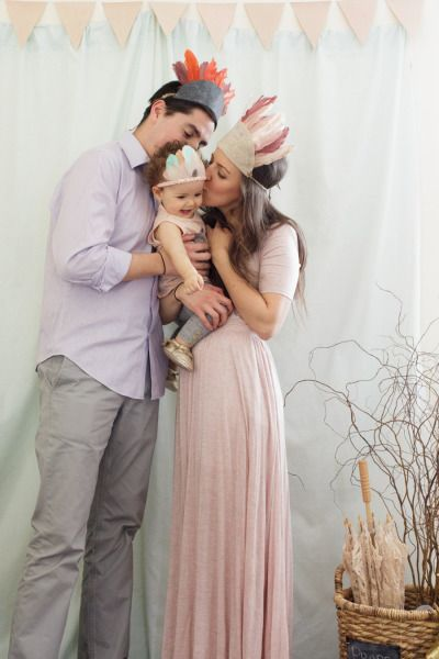 Family photo at the birthday party: http://www.stylemepretty.com/living/2015/03/02/woodland-animal-themed-1st-birthday-party/ | Photography: Feather & Light - http://www.featherandlight.com/