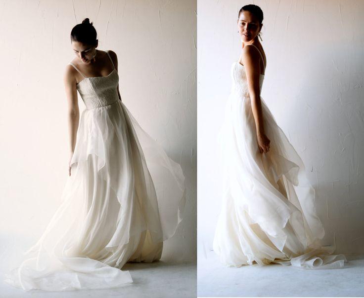 Vestito da sposa avorio fatto a mano in italia, vestito da sposa in ...