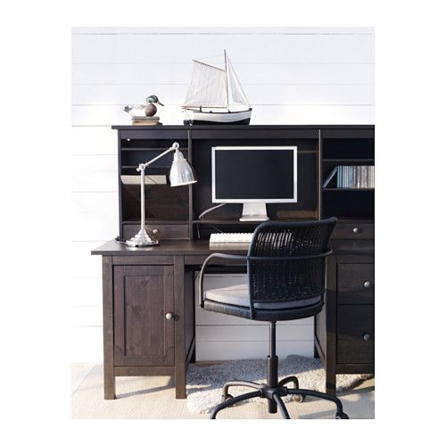 HEMNES Desk with add-on unit IKEA Solid wood is a durable natural material. You can mount the drawers to the right or left, according to your needs.