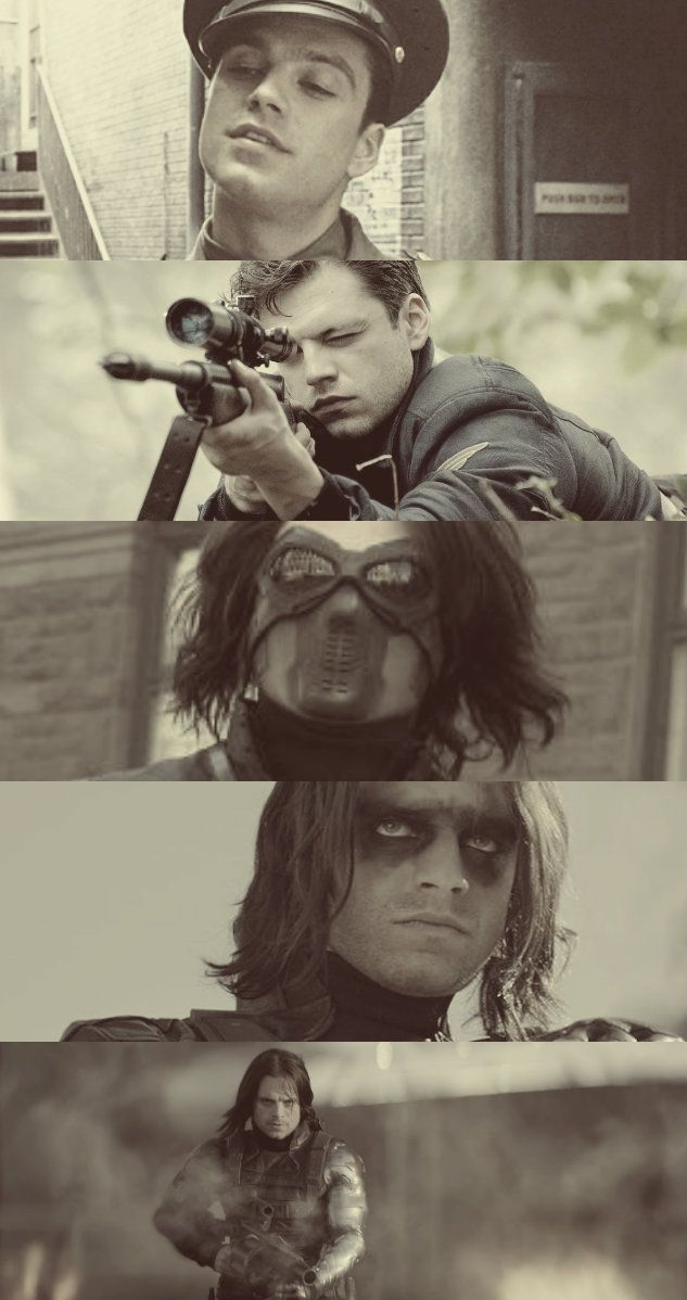 Bucky Barnes - Winter Soldier and Captain America: The First Avenger (2011) & Captain America: The Winter Soldier (2014)