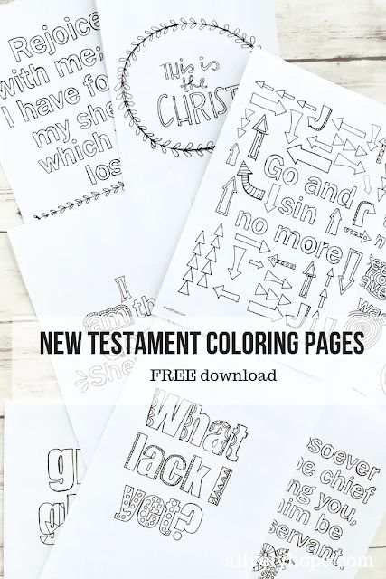 New Testament Verses coloring pages (Volume 4
