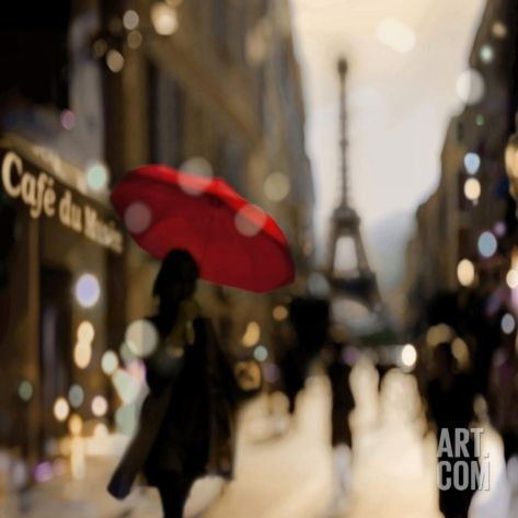 A Paris Stroll Art Print by Kate Carrigan at Art.com