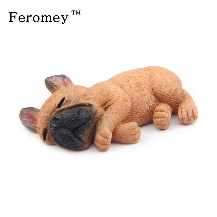 Cute Animal Action Model Toys Resin Simulation French Bulldog Mini Diy Action Fi #Doesnotapply
