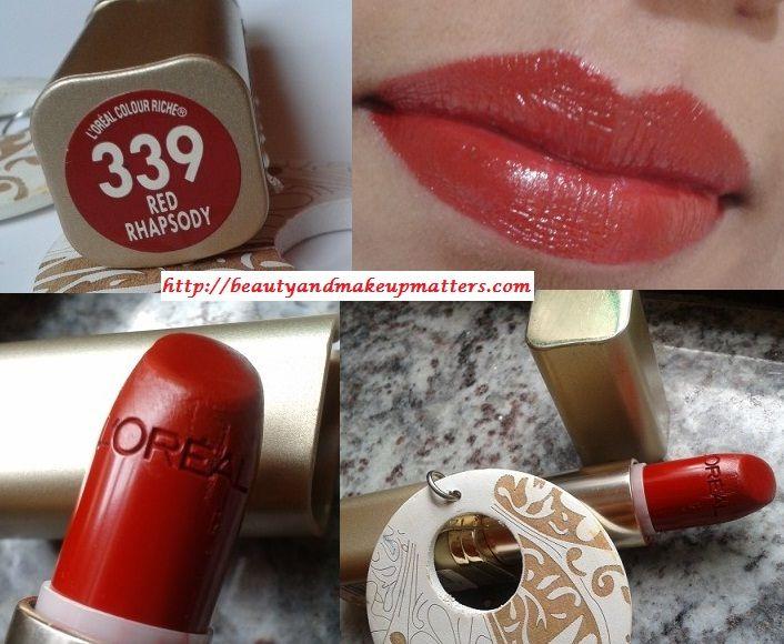 L'Oreal Color Riche Lipstick – Red Rhapsody Review