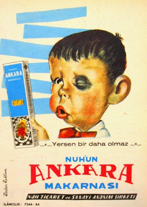 OĞUZ TOPOĞLU : nuh'un ankara makarnası 1964 nostaljik eski reklam...