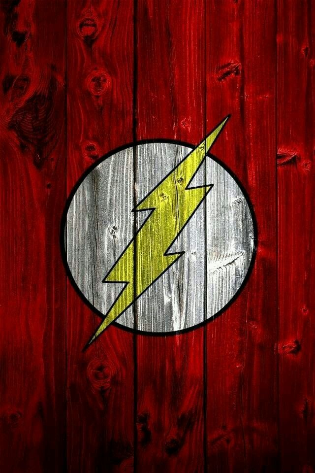 Flash Logo on Wood