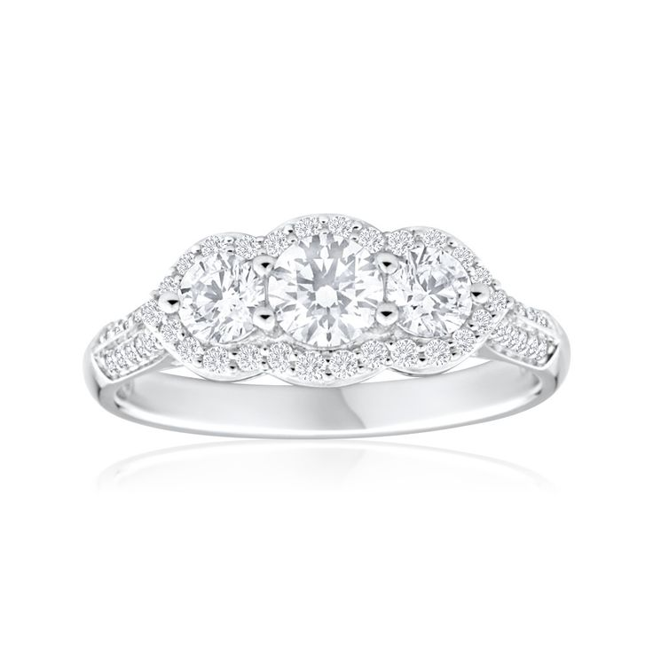 Ring, trilogy ring, engagement ring, diamond ring, online jewellery, gold, grahams jewellers
