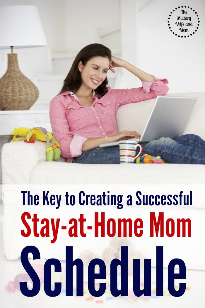 Wondering how to get a good stay at home mom schedule? Here's your answer!