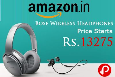 Amazon brings Just Launched #Bose #Wireless QC 35 and #SoundSport #Headphones and Price Starts Rs.13275. Bose SoundSport 761529-0010 Wireless Headphones @ Rs.13275 Bose QuietComfort-35 759944-0010 Wireless Headphones @ Rs.29363 http://www.paisebachaoindia.com/bose-wireless-headphones-price-starts-rs-13275-amazon/