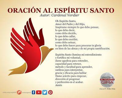 Gifs de oraciones: Oraciones al Espíritu Santo