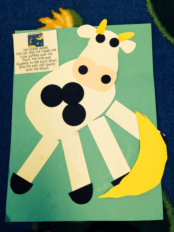 """Craft for """"Hey, Diddle, Diddle"""" (from Preschool Wonders)"""