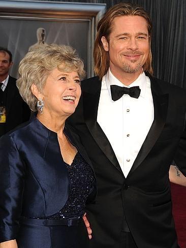 Brad Pitt. CelebCon - Stars with their mums | News.com.au
