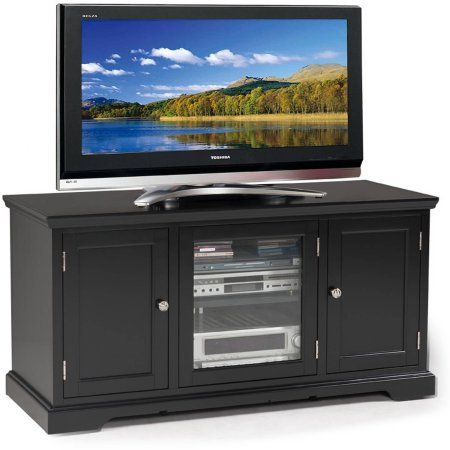 Leick Home Slate Black 50 inch TV Stand for TV's up to 52 inch