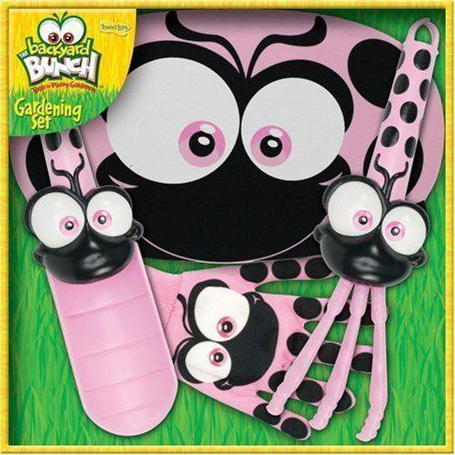 Backyard-Bunch-Childrens-Gardening-Set-Tools-Gloves-Apron-Pink-Ladybird