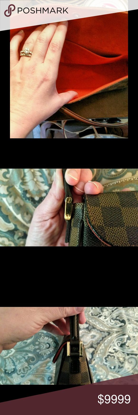 More pics Louis Vuitton Damier Ebene Recoleta Bag 100% Authentic Louis Vuitton Damier Ebene Recoleta Bag has a Microfiber lining with an interior patch pocket. Alcantara Lined Interior Pockets: One open pocket Color: Brown Hardware Description: Gold Hardware Material: Damier Ebene Width: 10.4 in. Length: 2.8 in. Height: 4.7 in. Handle Drop: 10 in. Authenticity code: Louis Vuitton FL0024 Condition: Mint-Very Used just around 3 times TRADE VALUE 750-800Overall the bag is in mint condition…