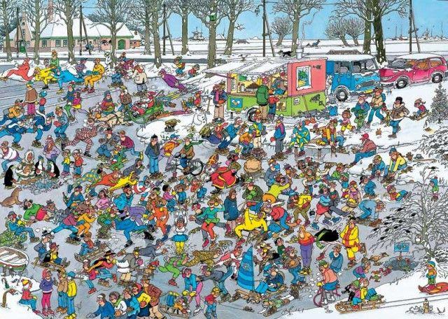 Jan van Haasteren: Op glad ijs (1000 stukjes)